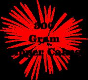 500 Gram Zipper Cakes